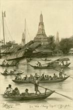 Wat Chaeng, Bangkok, Siam, 1898.  Creator: Christian Wilhelm Allers.