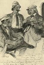 Europeans on board ship, 1898.  Creator: Christian Wilhelm Allers.