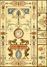 Wall painting and ceiling decoration, Germany, early 19th century, (1898). Creator: Unknown.