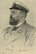 The captain of the 'Kaiser Wilhelm II', 1898.  Creator: Christian Wilhelm Allers.