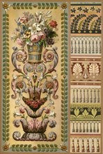 Gobelins tapestry and lacework, France and Germany, early 19th century, (1898). Creator: Unknown.