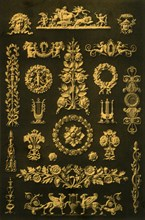 Metal ornaments, Germany, 19th century, (1898).  Creator: Unknown.