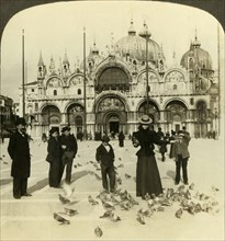 San Marco (east), a marvel of mosaic, marbre and gold, Venice, Italy', c1909. Creator: Unknown.