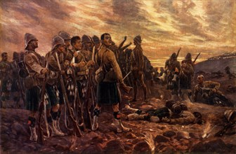 All That Was Left of Them. The Black Watch After the Battle of Magersfontein', 1900. Creator: Richard Caton Woodville II.
