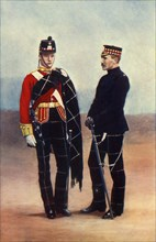 'Officers of the Highland Light Infantry', 1901. Creator: Gregory & Co.