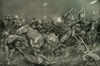 'The Night Charge of the 19th Hussars Near Lydenberg on Nov. 7th 1900', 1901. Creator: Richard Caton Woodville II.