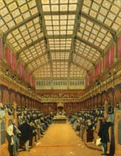 'The House of Commons During A Debate', 1858, (1947).  Creator: Unknown.