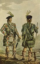 'Highland Chiefs in the Stewart and Gordon Tartans', 1831, (1946).  Creator: Robert Havell.