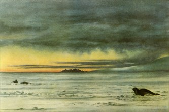 'Looking North in McMurdo Sound', 1911, (1946).  Creator: Edward Wilson.