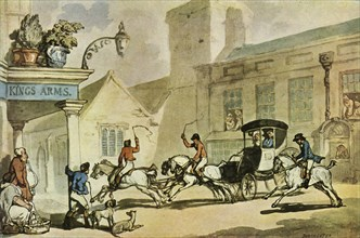 'The King's Arms, Dorchester', late 18th-early 19th century, (1943).  Creator: Thomas Rowlandson.