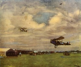 'An Aerodrome in 1918', (1944).  Creator: Sir John Lavery.