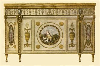 Commode designed by Robert Adam, 1770, (1946). Creator: Benedetto Pastorini.
