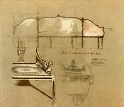 Design for a sofa, 1777, (1946). Creator: Robert Adam.
