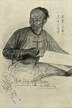 Mock Sang - carpenter on the 'Knivsberg', 1898.  Creator: Christian Wilhelm Allers.