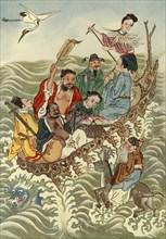 'The Eight Immortals Crossing the Sea', 1922. Creator: Unknown.