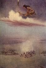 Gazing downward, she saw the camp of the Blackfeet', 1914. Creator: Unknown.