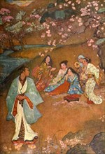 'Shinge and Yoshisawa by the Violet Well', 1912. Creator: Evelyn Paul.