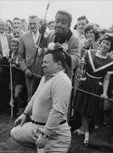 Sammy Davis Jr, Harry Secombe, Pro-Am Golf, North London, 1962. Creator: Brian Foskett.