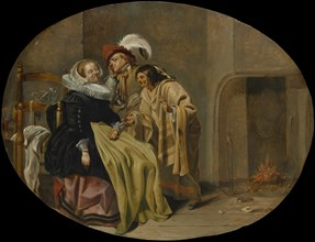 A Couple in an Interior with a Gypsy Fortune-Teller, ca. 1632-33. Creator: Jacob Duck.