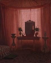 A Bedroom in Bernstorff Palace near Copenhagen, ca. 1845. Creator: Johan Vilhelm Gertner.