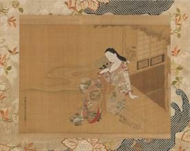 Courtesan Enjoying a Cool Summer Evening, 1741. Creator: Haritsu Ogawa.