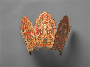 Ritual Crown with the Five Transcendent Buddhas, late 14th-early 15th century. Creator: Unknown.