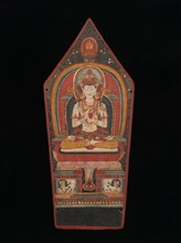 Panel from a Buddhist Ritual Crown Depicting Vairocana, late 13th-early 14th century. Creator: Unknown.