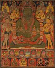 Amoghasiddhi, the Buddha of the Northern Pure Land, ca. 1200-50. Creator: Unknown.
