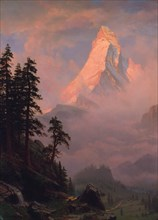 Sunrise on the Matterhorn, after 1875. Creator: Albert Bierstadt.
