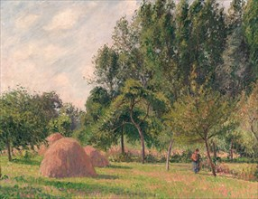 Haystacks, Morning, Éragny, 1899. Creator: Camille Pissarro.