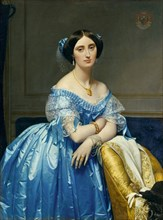 Joséphine-Éléonore-Marie-Pauline de Galard de Brassac de Béarn, Princesse de Broglie, 1851-53. Creator: Jean-Auguste-Dominique Ingres.