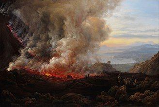 An Eruption of Vesuvius, 1824. Creator: Johan Christian Dahl.