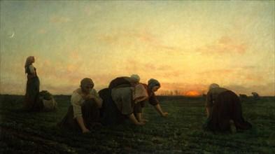 The Weeders, 1868. Creator: Jules Breton.
