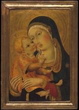 Madonna and Child, ca. 1448-60. Creator: Workshop of Sano di Pietro (Ansano di Pietro di Mencio) (Italian, Siena 1405-1481 Siena).