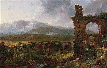 A View near Tivoli (Morning), 1832. Creator: Thomas Cole.