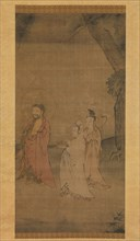 Shakyamuni coming down from the mountains, late 13th-early 14th century. Creator: Unknown.