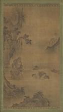 Daoist immortal Li Tieguai receiving a visitor, 15th-16th century. Creator: Unknown.