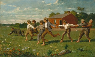 Snap the Whip, 1872. Creator: Winslow Homer.