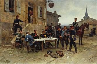 The Dispatch-Bearer, 1880. Creator: Alphonse de Neuville.