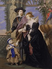 "Copy after ""Rubens, His Wife Helena Fourment (1614-1673), and Their Son Frans (1633-1678)"". Creator: Bernard Lens."