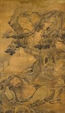 Drunken Immortal beneath an old tree, early 16th century. Creator: Chen Zihe.