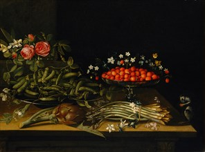 Still Life with Strawberries. Creator: French Painter (17th century).
