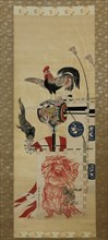 Boy?s Day Carp Streamer and Shoki Banner, before 1870. Creator: Kawanabe Kyosai.