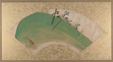 Flowers on Grass, late 19th century. Creator: Shibata Zeshin.