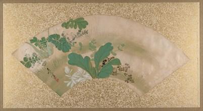 Various Plants and Grass, late 19th century. Creator: Shibata Zeshin.