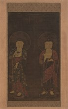 Amitabha and Kshitigarba, first half of the 14th century. Creator: Unknown.