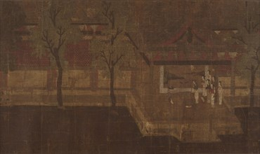 Pavilion with Figures. Creator: Unknown.