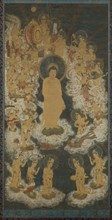 Welcoming Descent of Amida and Bodhisattvas, late 14th century. Creator: Unknown.