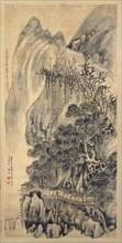 Landscape, dated 1649. Creator: Wang Duo.
