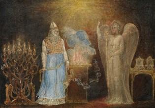 The Angel Appearing to Zacharias, 1799-1800. Creator: William Blake.